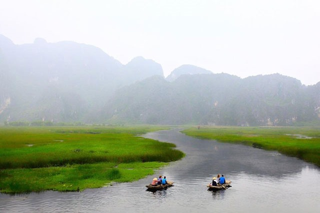 Vân Long Lagoon a must-see destination in Ninh Bình