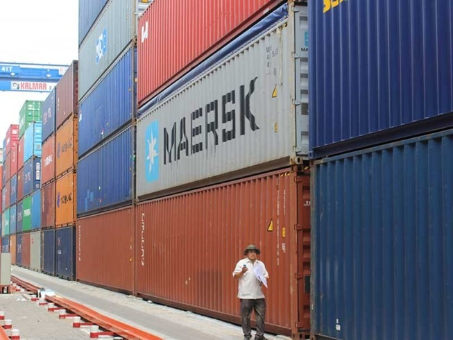 Police investigate container theft