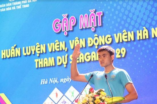 Hanoian athletes get pep talk before SEA Games