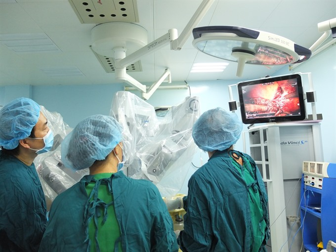 VNs first robotic surgery on liver cancer patient