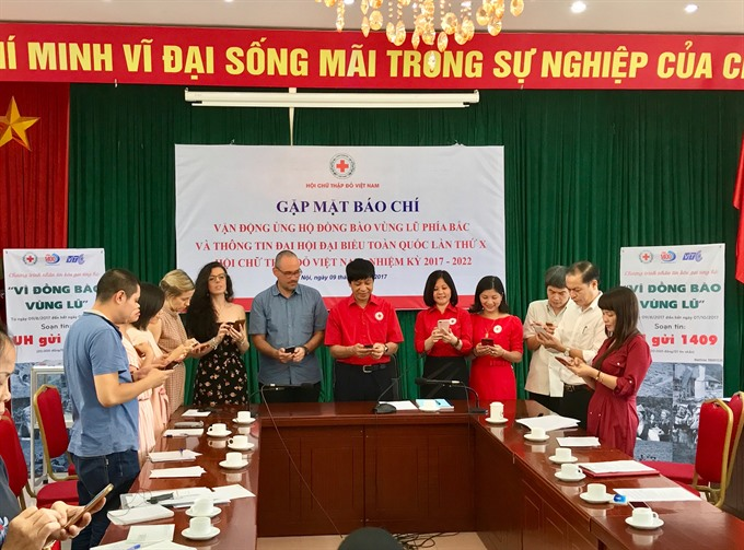 VNRC launches humanitarian campaign for flood victims