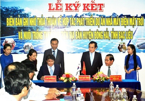 SKorean group to build 450 million solar power plant in Bạc Liêu
