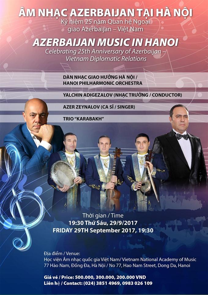 Concert celebrates friendship of Việt Nam and Azerbaijan