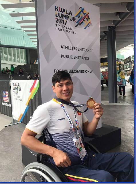Tùng wins ParaGames Hải claims title hattrick