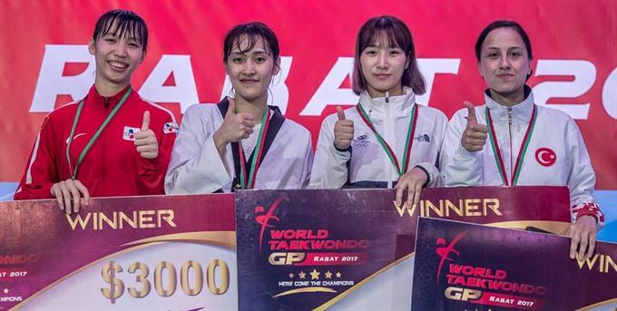 Tuyền takes Taekwondo Grand Prix silver