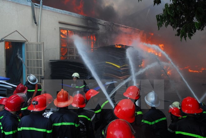 One firefighter died two injured when stamping out fire