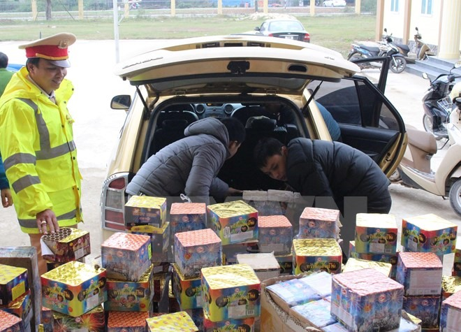 Firecracker smuggling increases ahead of Tết