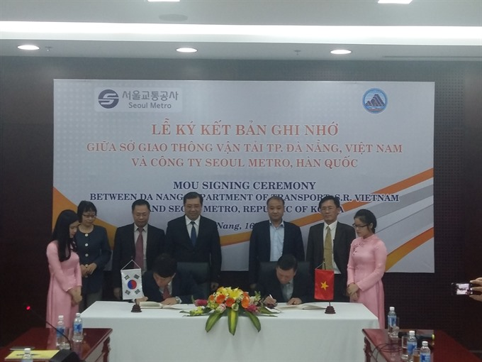 S Korea Đà Nẵng agree to develop urban railway system