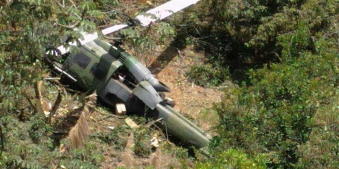 No survivors in Colombia military helicopter crash