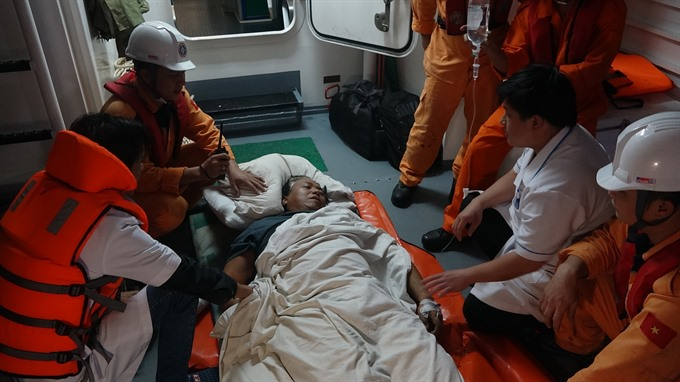 Filipino stroke victim rescued at sea