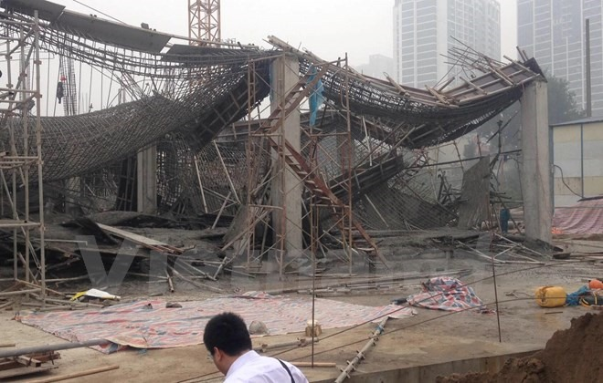 Recent scaffolding collapse attributed to overloading