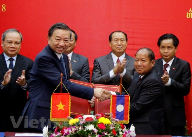 Lao VN minister vow cooperation to fight crime