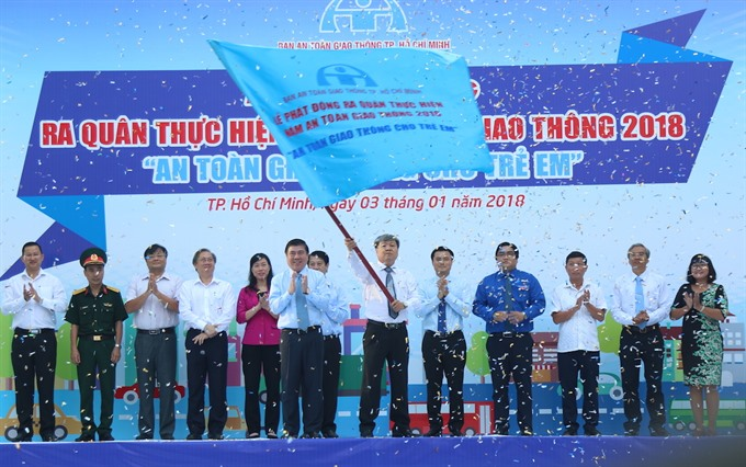HCM City kicks off 2018 traffic safety campaign