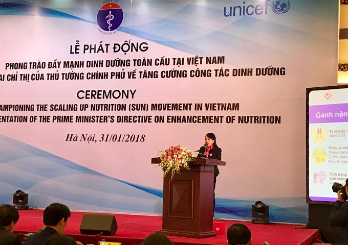 Health ministry launches SUN Movement in Việt Nam