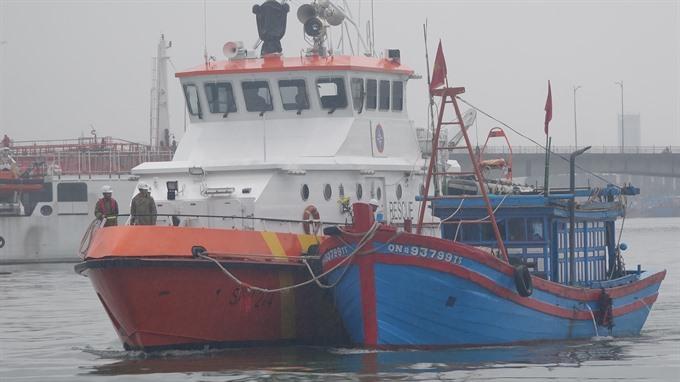Four fishermen saved at sea of Đà Nẵng