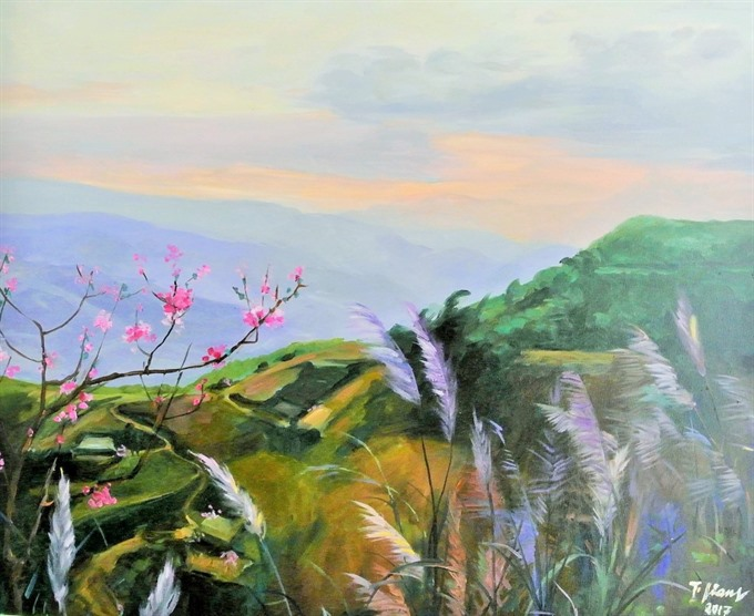 Famed movie star 76 shows paintings at new exhibition