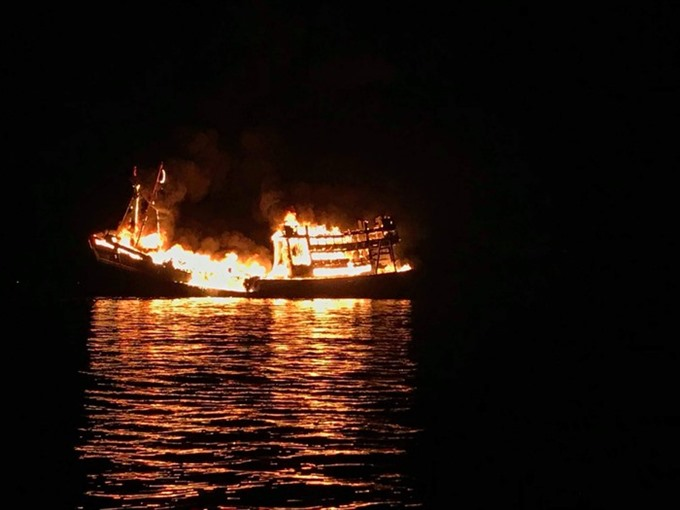 Nearly 560000 lost in fishing boat fire