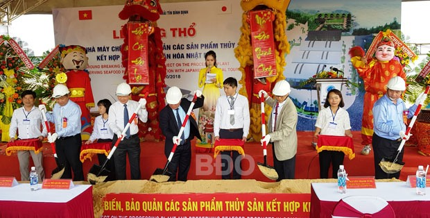 Japanese investor starts building seafood processing factory in Bình Định