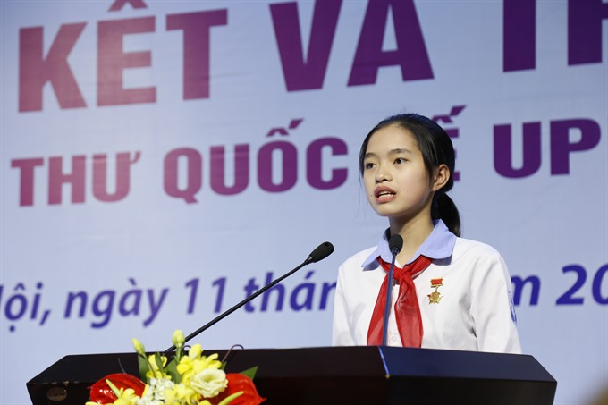 Vietnamese student wins prize at international letter-writing contest