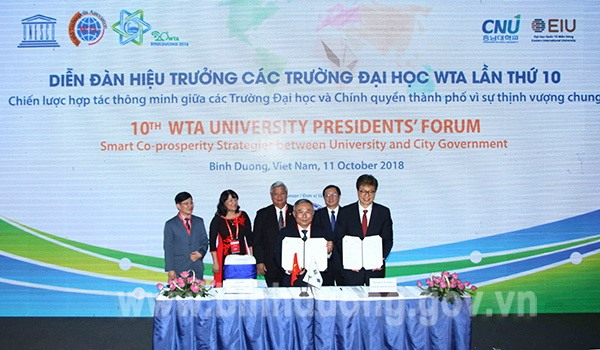Bình Dương signs MoU on education and training with World Technopolis Association members
