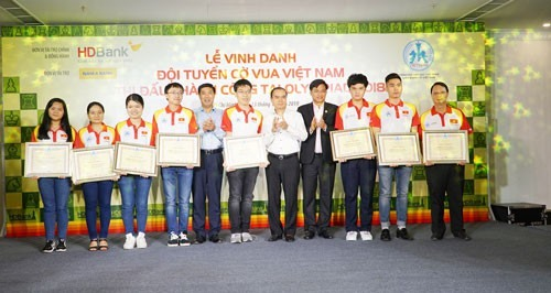 Việt Nam chess teams receive 25000
