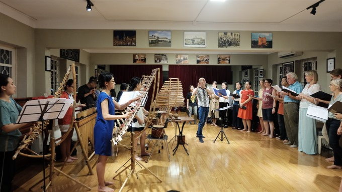Bamboo instrument ensemble to perform classical pieces