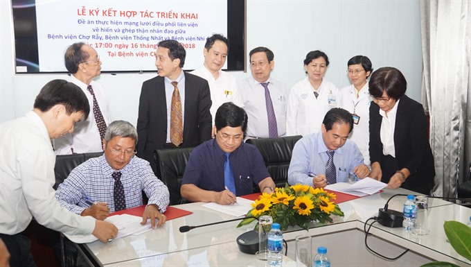 HCM City hospitals tie up for allocation of donated kidneys for transplant