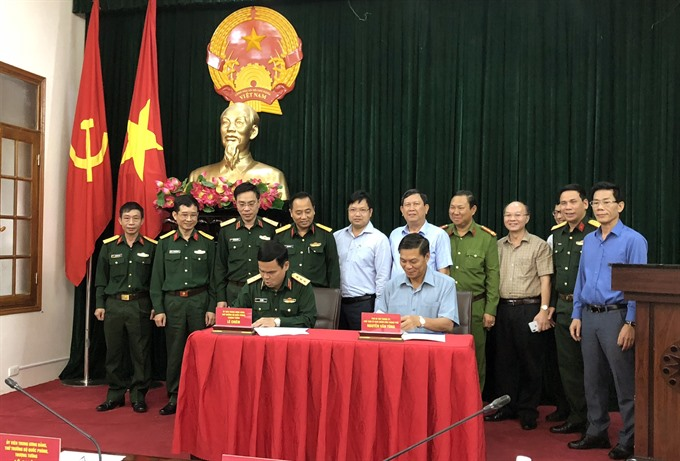 Defence ministry hands over 14.2ha of land to Hải Phòng administration