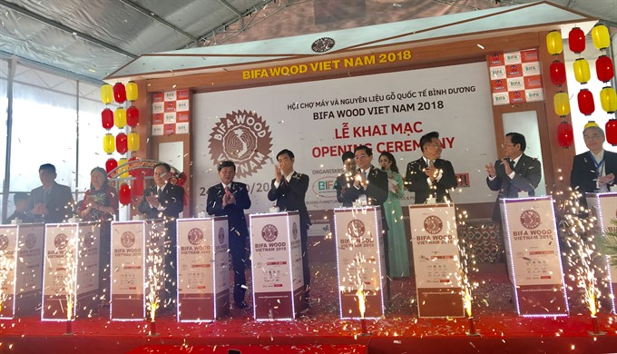 Intl wood fair opens in Bình Dương