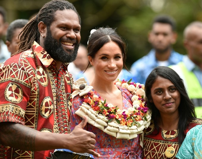 Meghan takes spotlight in Fiji to back female education