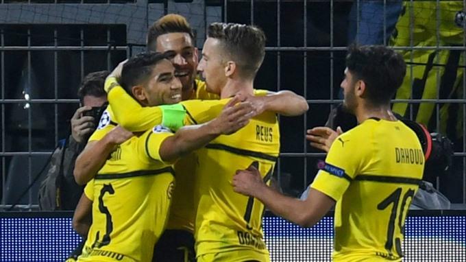 Dortmund thrash Atletico as Sancho scores first Champions League goal