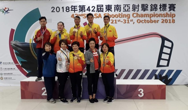 Việt Nam win five golds at SEA shooting champs
