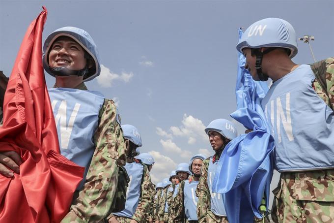 Vietnamese peacekeepers arrive in South Sudan