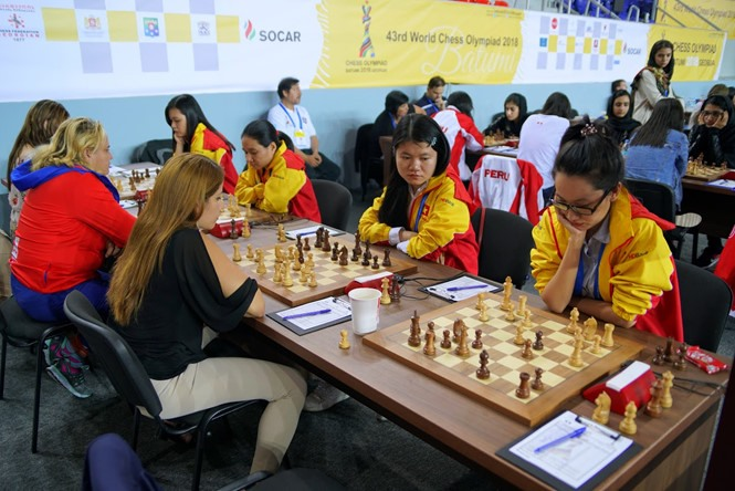 Việt Nam draw with Cuba in eighth round of Chess Olympiad