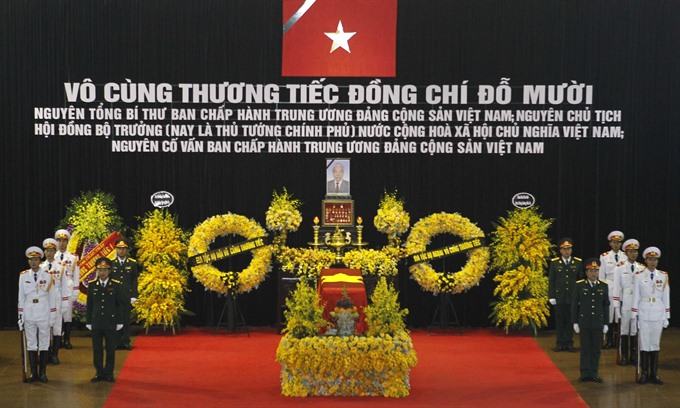 State funeral begins for former Party General Secretary Đỗ Mười