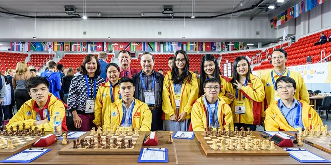 Việt Nams teams rank seventh at Chess Olympiad