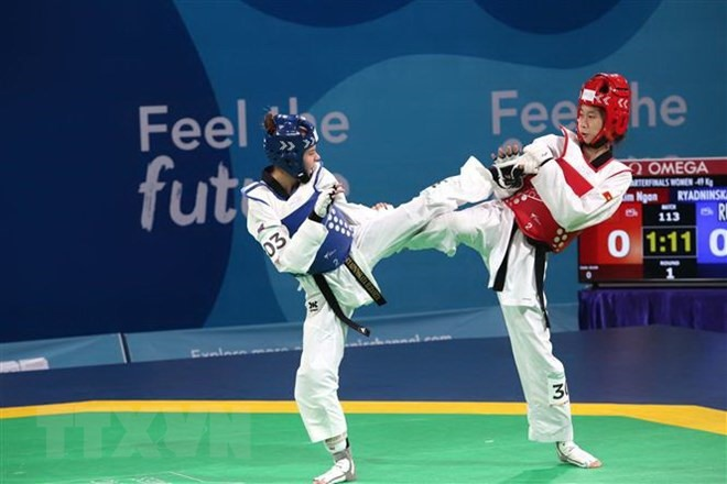 Ngân stopped in quarter-final of Summer Youth Olympics
