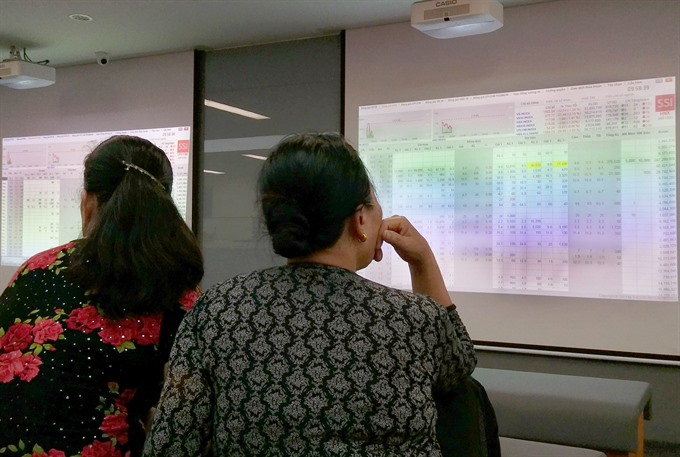 Local stocks down for second day