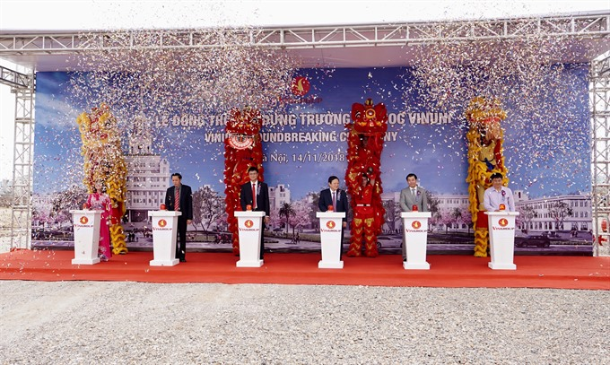 Vingroup starts construction of VinUniversity in Hà Nội