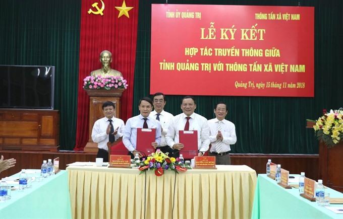 VNA Quảng Trị Province ink cooperation deal