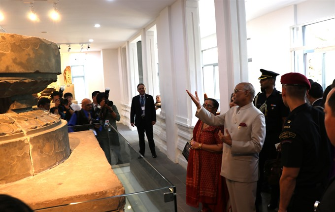 Indian President visits Mỹ Sơn Sanctuary