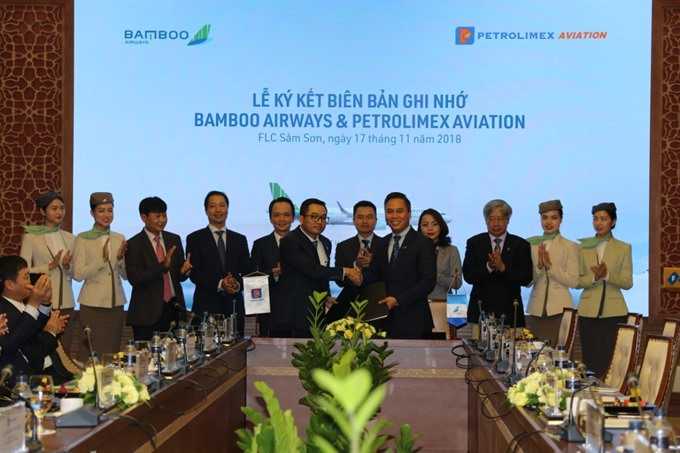 Bamboo Airways and Petrolimexs subsidiaries sign MoU