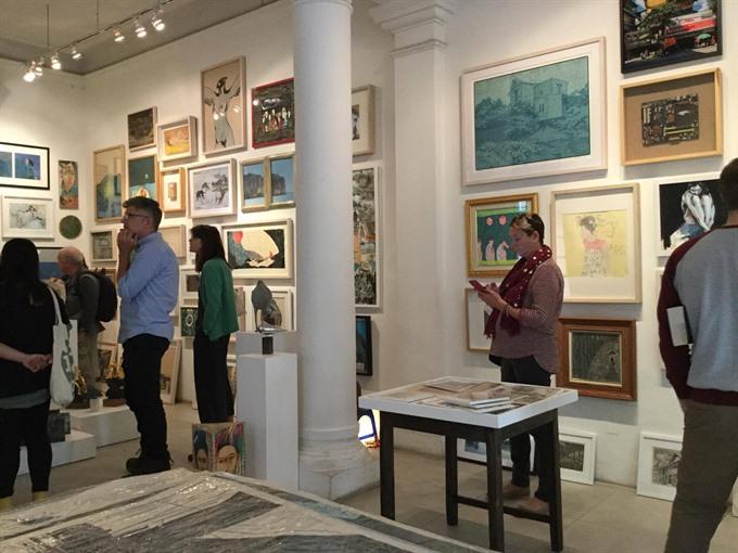 Vibrant comtemporary artists join affordable art fair