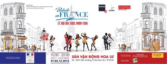 Balade en France food and wine event on Dec 1-2