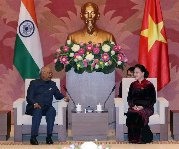 Top legislator meets with Indian President
