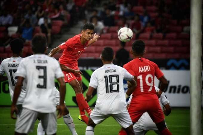 Lions thrash Timor-Leste 6-1 in AFF Suzuki Cup