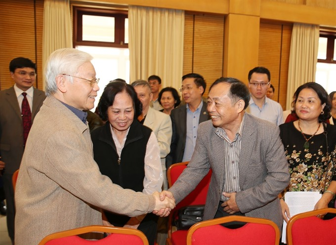 Party chief President meets HN voters