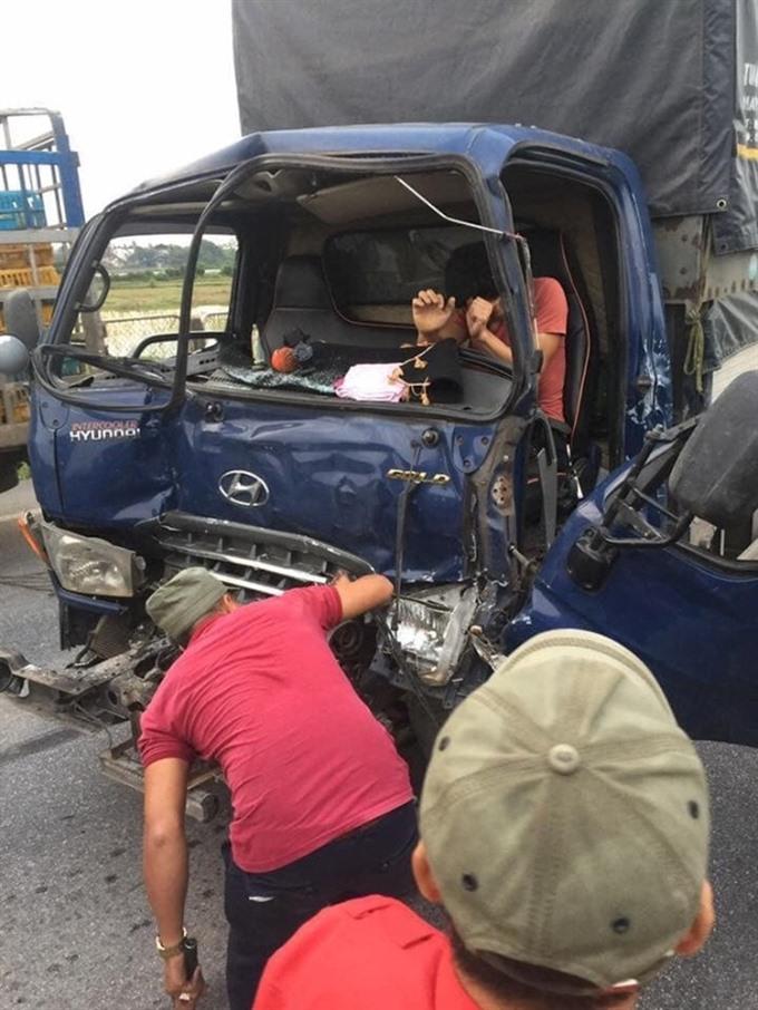 Truck drivers luck runs out