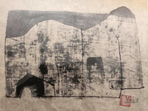 Exhibition showcases modern art on traditional material