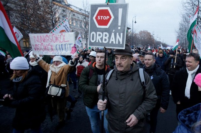 Hungary public broadcaster hit by wave of protests